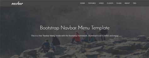bootstrap navbar menu   templates azmind