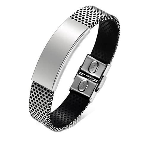 Bracelet Homme Cuir Acier