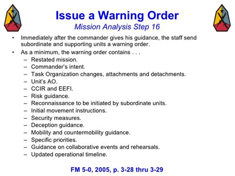 usmc warning order template decision process mar 08 3
