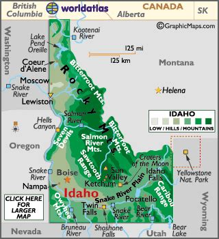 geographic id map texas major landforms in idaho invitations ideas