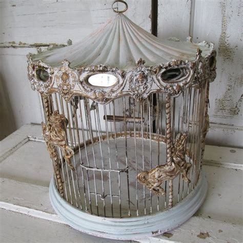 carousal bird cage antique wire ornate merry go round