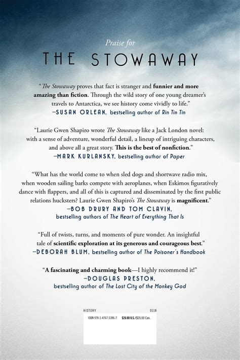 the stowaway book by laurie gwen shapiro official