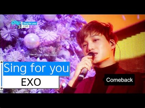 download mp3 album exo sing for you hot exo sing for you 엑소 싱포유 show music core