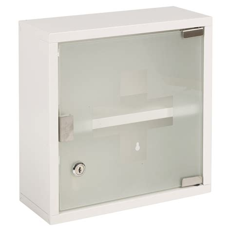 Glass Door Medicine Cabinet Wall Mountable Medicine Cabinet Cupboard Lockable Aid Box Glass Door Ebay
