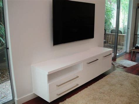 floating media cabinet plans woodworking projects plans