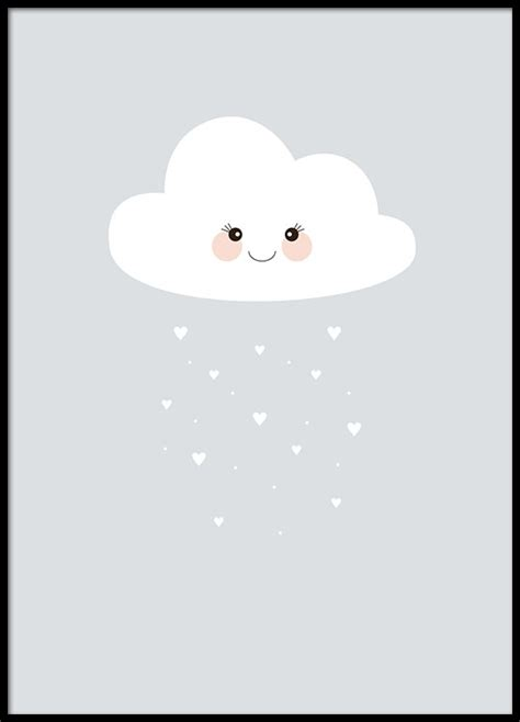 bilder kinderzimmer wolke kinderposter mit wolke poster f 252 r kinder und das