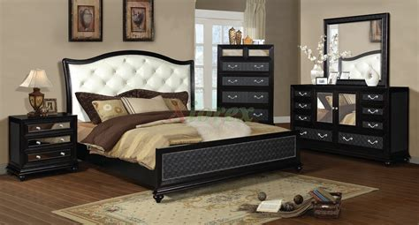 black leather bedroom set onyx island 6 pc cal king bedroom set faux leather