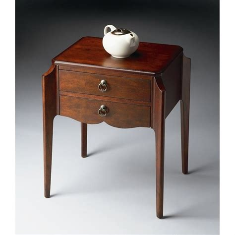 cherry accent table butler specialty accent table in plantation cherry 7016024