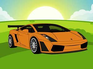 cartoon lamborghini lamborghini gallardo cartoon race car games online
