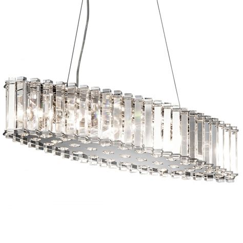 Modern Island Lighting Fixtures Kichler 8 Light Modern Island Chandelier In Chrome From Elstead Lighting