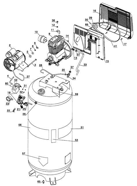 craftsman air compressor parts model  sears