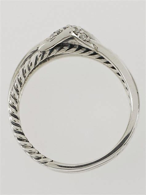 david yurman sterling silver and x cable