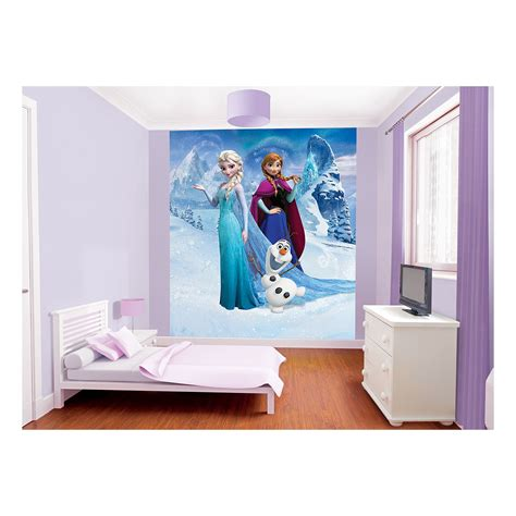 frozen wallpaper asda disney frozen wallpaper mural asda girls room