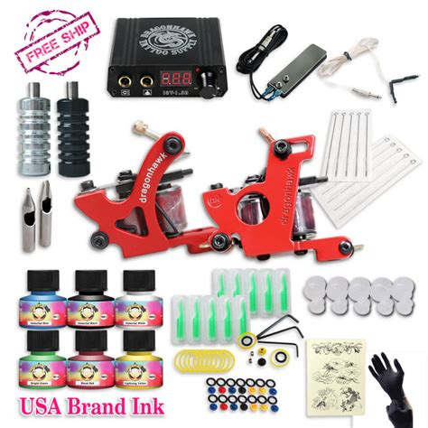 tattoo machine brands free cheap tattoo kit complete 2 tattoo machines 6 colors