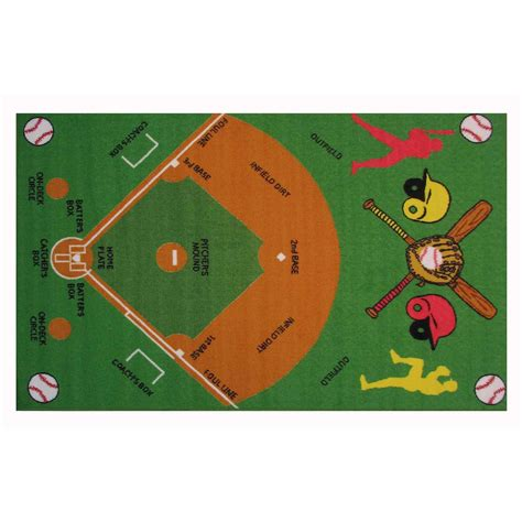 baseball diamond rug rugs ideas