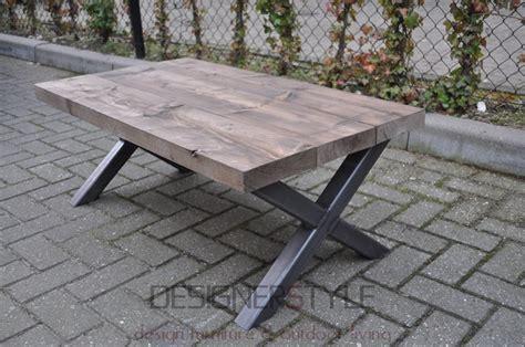 Steigerhout Salontafel Stalen Frame by Industri 235 Le Salontafels Designerstyle Nl Ontwerpt En