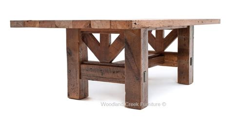 dining table base wood timber frame dining table salvaged barn wood rustic