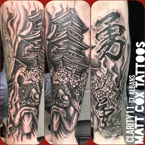 mcox972 buddha and temple buddha temple bng arm tattoo