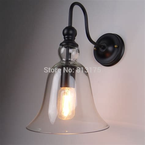 Western Style Light Fixtures Kc Loft Western Style Ls Glass Bell Creative Interior Bedside L Wall L Mirror Front
