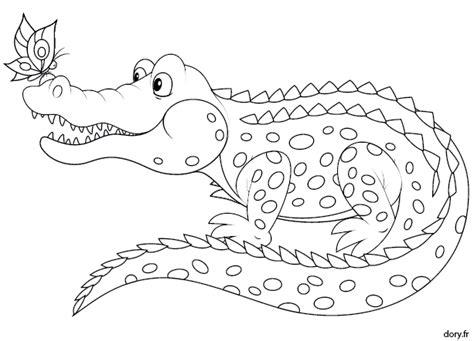 Coloriage 224 Imprimer Un Crocodile Dory Fr Coloriages