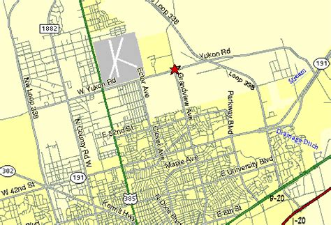 map of texas odessa ratliff stadium odessa texas