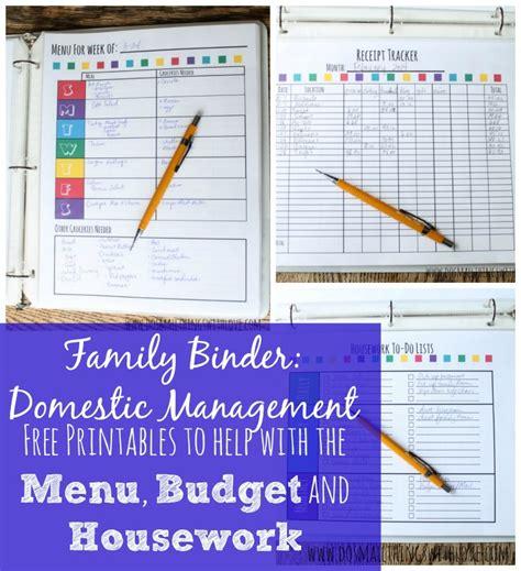 Family Management Binder Printables