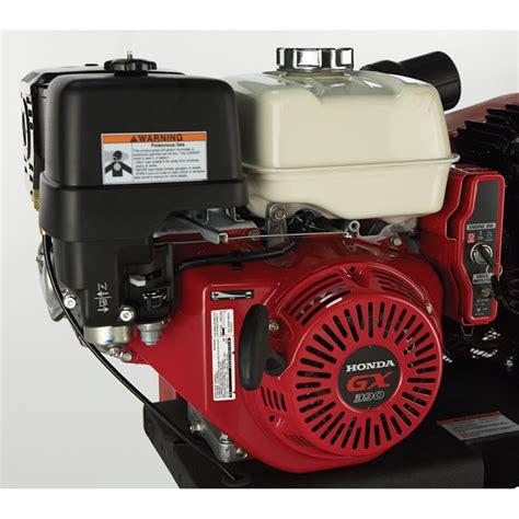 shipping northstar portable gas powered air compressor honda gx ohv engine