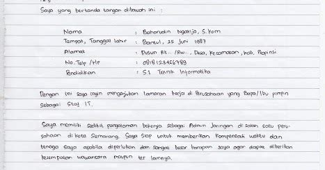 cara membuat surat lamaran kerja manual situsmedia contoh surat lamaran kerja tulis tangan yang