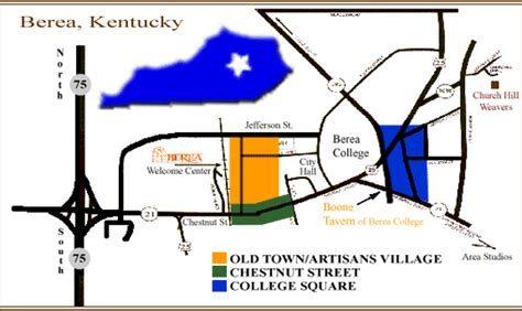 kentucky map berea early black berea berea city map