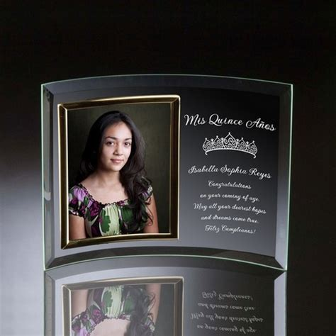 Quinceanera Curved Glass Vertical 5x7 Photo frame