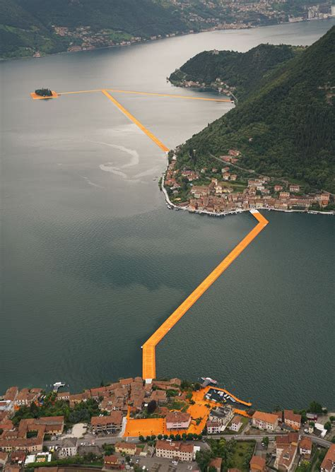 floating piers christo s 3km floating walkway across italy s lake iseo