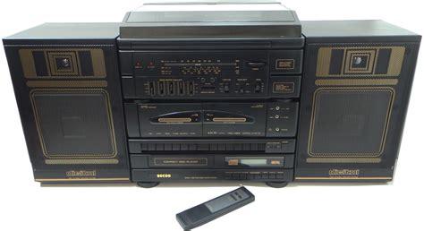 stereo a cassette retro 90s hifi system stereo cd cassette radio record