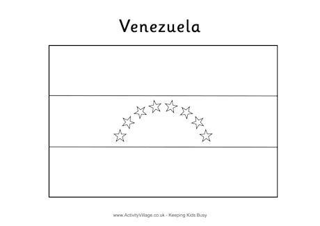 coloring page of venezuela flag venezuela flag colouring page
