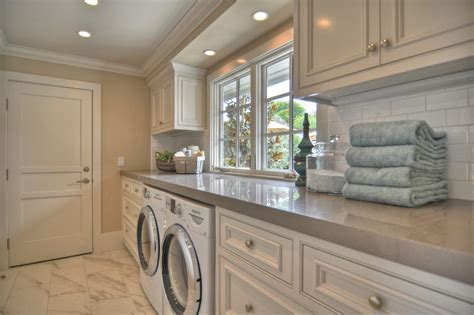 london grey caesarstone laundry room beach style with