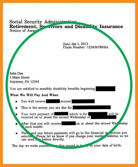 Award Letter From Ssa 4 Social Security Award Letter Sle Pdf Mystock Clerk