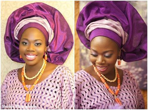 aso oke and lace attires for yoruba traditional weddings purple silver traditional nigerian attire lace aso oke