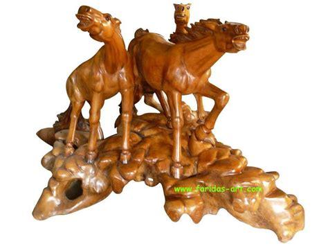 Ekor Kuda Warna Coklat Perak faridas jual ukiran kayu jati furniture relief wooden craft kuda 3 ekor