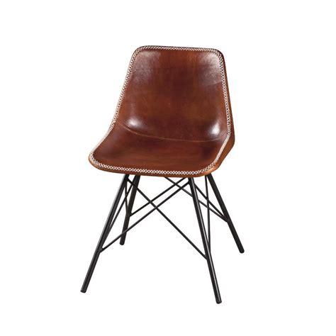 sedia in cuoio sedia ferro e cuoio industrial sedie stile industriale
