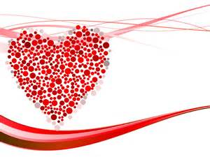 hearts dots for powerpoint ppt backgrounds love red