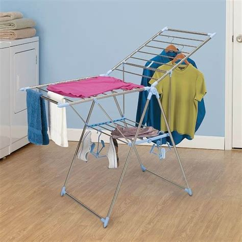 Air Dryer Clothes Rack by Wall Mounted Wooden Expandable Clothes Drying Rack