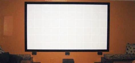 design your own home screen how to build your own projector screen at home for less