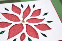 Paper Poinsettias Made From Recycled Cards Template by Glittery Poinsettia Cutout Card