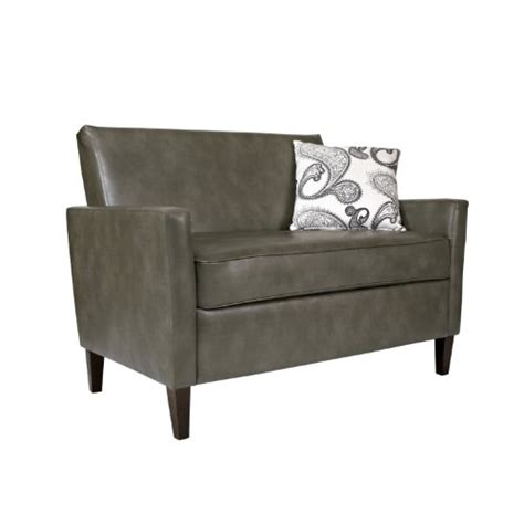 angelo home sutton loveseat shopping angelo home sutton loveseat in renu leather gray