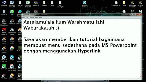 cara membuat hyperlink powerpoint tutorial membuat menu hyperlink pada microsoft office