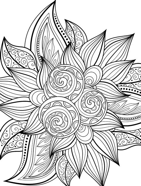 10 Free Printable Holiday Adult Coloring Pages Free Coloring Pages For Adults Printable To Color