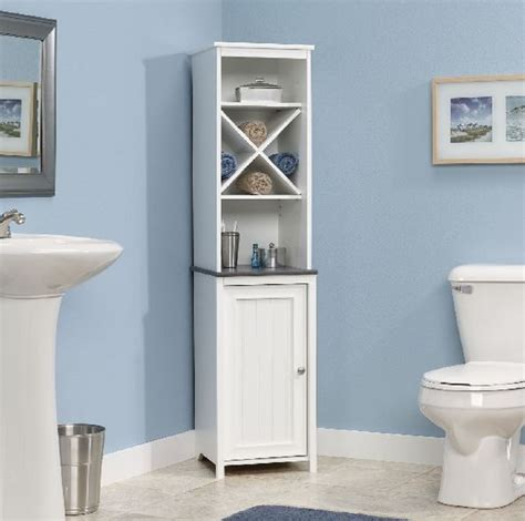 Bathroom Storage Tower Cabinet Narrow Bathroom Storage Cabinet Towel Linen Tower Bath Bedroom Cupboard Shelf Cabinets Cupboards