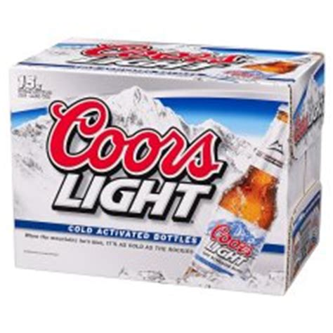 Coors Light Percent by Percentage In Coors Light Johny Fit