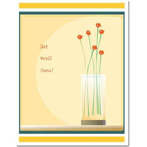 get well cards template free downloads simple template for a greeting card in