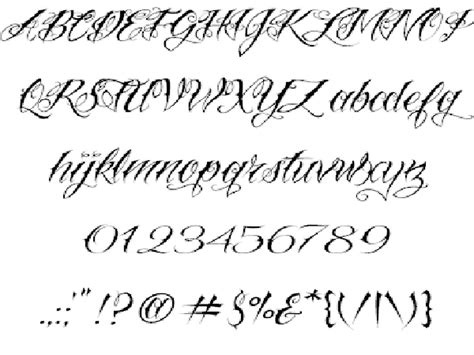 tattoo cursive font ideas script fonts lettering for tattoos