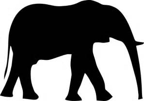 animal silhouettes templates elephant silhouet clip at clker vector clip